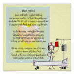 Retired Nurse Art Poster & Poem
