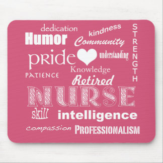Retired Nurse-Attributes+Heart Mousepad
