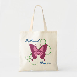 Retired Nurse (Butterfly) Budget Tote Bag