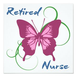 Retired Nurse (Butterfly) Card