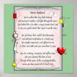 Retired Nurse Canvas Art Poem  by Gail Gabel,RN Posters