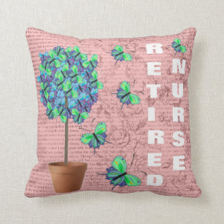 Retired Nurse Decorative Butterfly Pillow