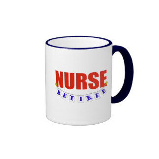 RETIRED NURSE RINGER COFFEE MUG