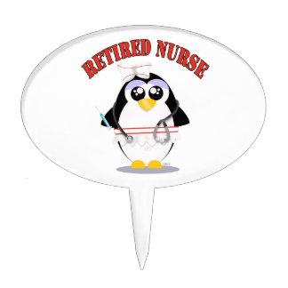 Retired Nurse Penguin (female) Cake Topper