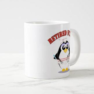Retired Nurse Penguin female Large Coffee Mug