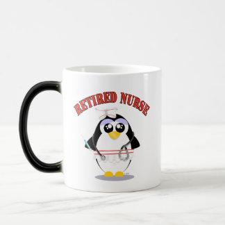 Retired Nurse Penguin female Magic Mug