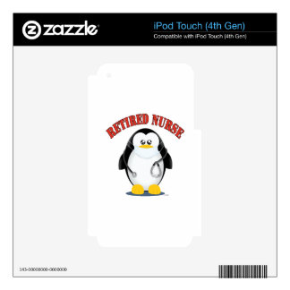Retired Nurse Penguin iPod Touch 4G Decal