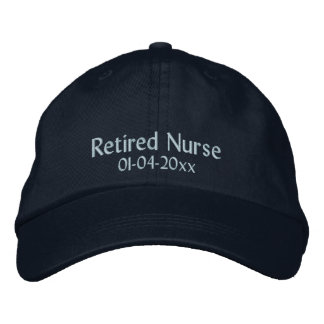Retired Nurse-Personalize Date Embroidered Baseball Cap