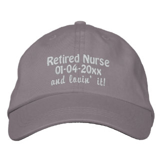 Retired Nurse-Personalize Retirement Date Embroidered Baseball Caps