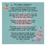 """Retired Nurse Poem """"Did I Make A Difference?"""" Poster"""