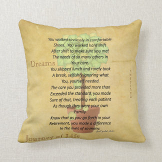 Retired Nurse Poem Pillow by Gail Gabel, RN