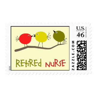 Retired Nurse Postage Stamps