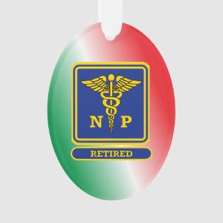 Retired Nurse Practitioner Caduceus Shield Ornament