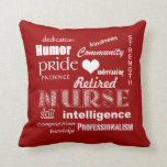 Retired Nurse Pride-Attributes+Heart Pillow