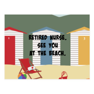 Retired Nurse. See You at the Beach. Postcard