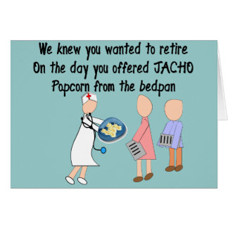 Retired Nurse Story Art Gifts Card