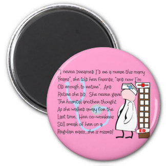 """""""Retired Nurse""""  Story Art--Unique Gift Items Refrigerator Magnets"""