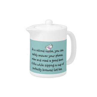 Retired  Nurse Teapot
