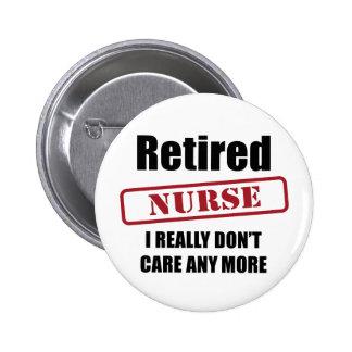 Retired Nurse (UK spell) Button