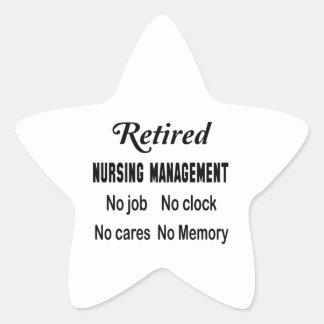 Retired Nursing management No job No clock No care Star Sticker