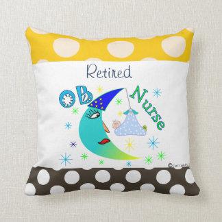 Retired OB Nurse Throw Pillow