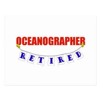 RETIRED OCEANOGRAPHER POSTCARD