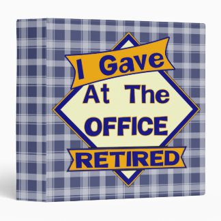 Retired Office Worker Avery Binder