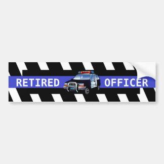 RETIRED OFFICER BUMPER STICKER