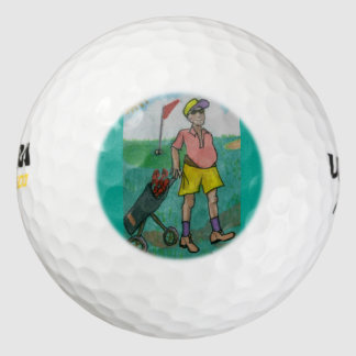 Retired Old Fart out Golfing - Golfball Golf Balls
