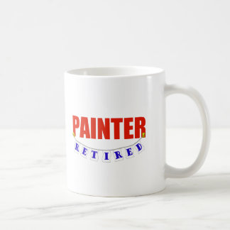 RETIRED PAINTER CLASSIC WHITE COFFEE MUG