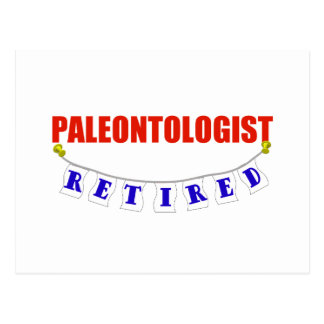RETIRED PALEONTOLOGIST POSTCARD