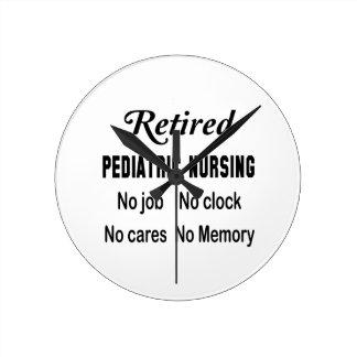 Retired Pediatric nursing No job No clock No cares