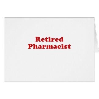 Retired Pharmacist Card