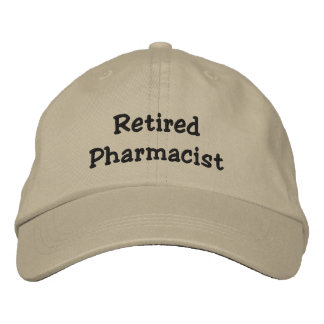Retired Pharmacist Embroidered Baseball Cap