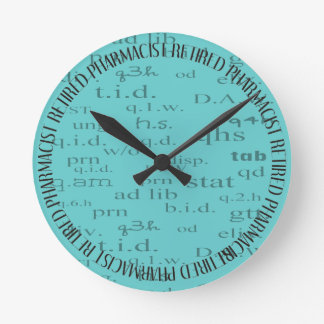 Retired Pharmacist Wall Clock