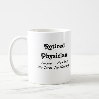 Retired Physician Classic White Coffee Mug