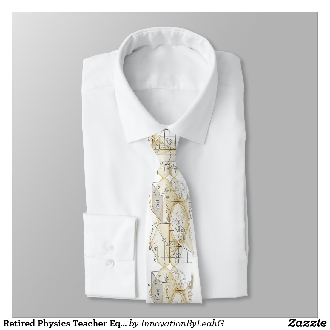 Retired Physics Teacher Equations Personalized Neck Tie