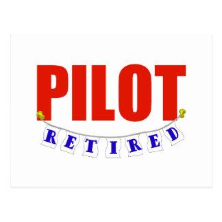 RETIRED PILOT POSTCARD