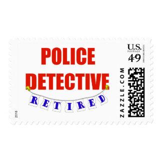 RETIRED POLICE DETECTIVE POSTAGE STAMP