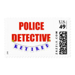 RETIRED POLICE DETECTIVE POSTAGE STAMPS