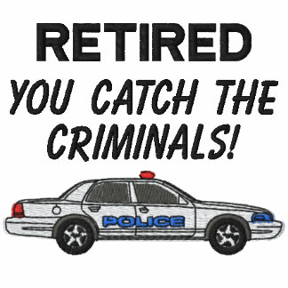 Retired Police Embroidered Shirt