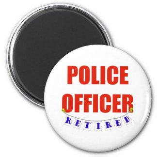 RETIRED POLICE OFFICER REFRIGERATOR MAGNET