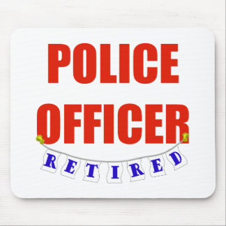 RETIRED POLICE OFFICER MOUSE PAD