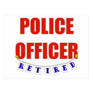 RETIRED POLICE OFFICER POSTCARD