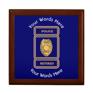 Retired Police Officer Shield Keepsake Box