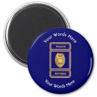 Retired Police Officer Shield Magnet