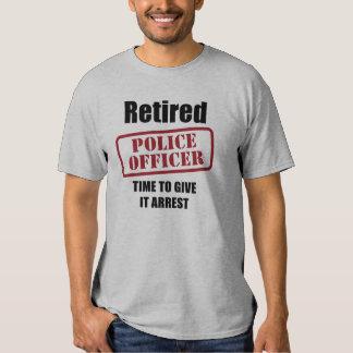 Retired Police Officer T Shirt