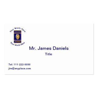 Retired Police Sergeant Custom Shield Business Card