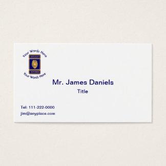 Retired Police Sergeant Custom Shield Business Card