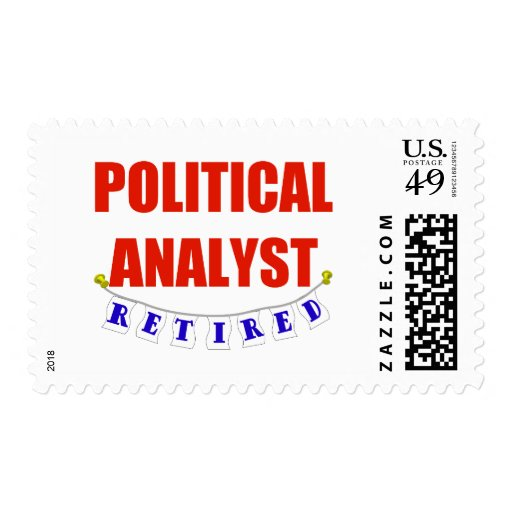 RETIRED POLITICAL ANALYST POSTAGE